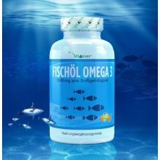 Омега 3 - Рыбий жир Omega 3 XXL -  ОГРОМНОЕ количество в банке - 420 капсул! ХВАТАЕТ НА 1,5 ГОДА ПРИЁМА Содержит 1000 мг на 1 капсулу! Продукт из ГЕРМАНИИ