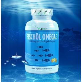 Омега 3 - Рыбий жир Omega 3 XXL - большое количество в банке - 420 капсул! ХВАТАЕТ НА 1,5 ГОДА ПРИЁМА Содержит 1000 мг на 1 капсулу! Продукт из ГЕРМАНИИ