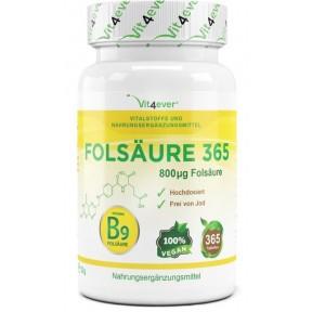 Фолиевая кислота - 800 мкг - Витамин B9-365 таблеток из Германии