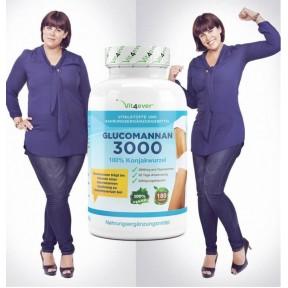 Глюкоманнан 3000-100% Корень Коньяка-180 Капсул для утоления голода