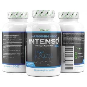 L-аргинин 4500 Intenso XXL-4500 мг на суточную порцию-420 капсул из Германии