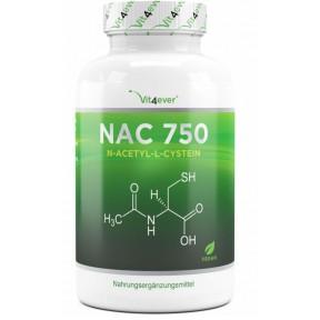 NAC-N-ацетил L-цистеин 180 капсул по 750 мг каждый из Германии