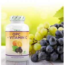OPC с витамином C-180 капсулы - 1050 мг экстракта виноградных косточек на порцию-лабораторный тест – из Германии