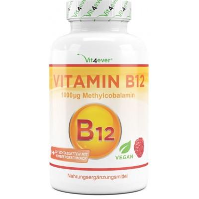Витамин B12 1000 mcg- B12 метилкобаламин - ОЧЕНЬ большое количество  - 365 таблеток! 1000 мкг метилкобаламина ХВАТАЕТ НА 12  МЕСЯЦЕВ ПРИЁМА! Продукт из ГЕРМАНИИ