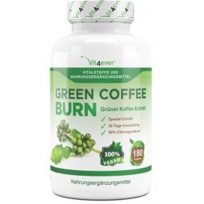 Зерна зеленого кофе - 50% GCA - 30 дневный курс сжигания жира- 180 веганских капсул