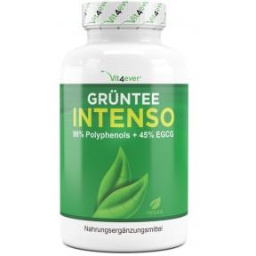 Зеленый чай Intenso-98% полифенолы и 45% EGCG - 130 веганских капсул