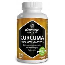 Куркума - высокодозированная + пиперин + витамин С! Уникальная цена! Продукт из ГЕРМАНИИ. Хватает на 4-5 МЕСЯЦЕВ
