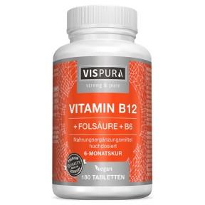 Витамин B12 по 1000 мкг на капсулу + B9 + В6. Уникальная цена! Продукт из ГЕРМАНИИ. Хватает на 6-7 месяцев Высокие дозы!