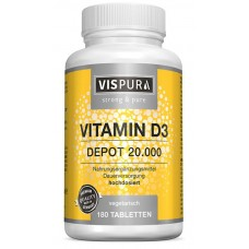 ЭКСТРА концентрированный витамин D3 20.000 единиц. Большое количество в банке! 1 упаковки ХВАТАЕТ НА 6-7 МЕСЯЦЕВ из ГЕРМАНИИ